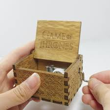 Engraved Wooden Music Box Game Of Thrones Antique carved wooden game of thrones music box Christmas new year 35