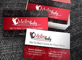 Meiby Baby Business Cards Design Develop