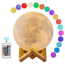 Lunar Deluxe Maan Lamp Draadloos 16 Kleuren