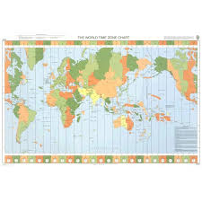 Admiralty Chart 5006 The World Time Zone Chart