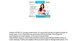 impact of social media on teenager essay google docs