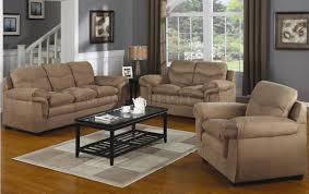 Microfiber Living Room Set Mocha Microfiber Contemporary Comfortable Living Room