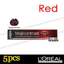 Loreal Majicontrast Red Permanent Colour Hair Dye 50ml 5pcs