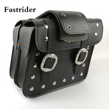 fastrider universal leather motorcycle saddlebags left right pouch for harley tanks bags tank bag bicycle seat bags bicycle side bags from mumianflo