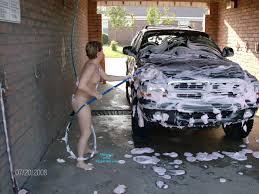 Amateur wife naked at carwash