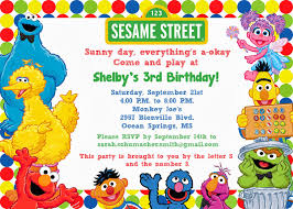Sesame Street Invitations Sesame Street Birthday Invitation
