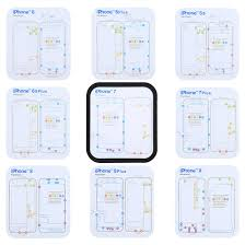 Iphone 7 Screw Size Chart Ipartsbuy For Iphone X 8 8 Plus 7 7 Plus 6s Plus 6s 6 6 Plus Magnetic Memory Screws Mat Size 17 8cm X 15 9cm
