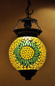 Handmade Antique Yellow Color Hanging Ceiling Glass Lamp Shade Buy