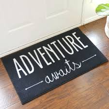 2 x 3 adventure awaits black door mat