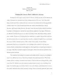 reflection essay sample about writing how to write a reflective
