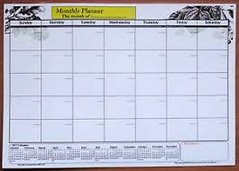 Details About A3 Size Laminate Monthly Planner Dry Wipe Wall Chart With 2017 2018 Calendar