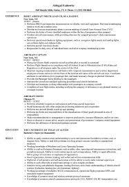 Aircraft Resume Samples Velvet Jobs