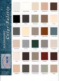 Senox Color Chart Rain Gutter Colors Ajs Gutters
