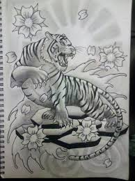 japanese tiger tattoo drawing. Perfect Drawing Japanese Tiger Tattoo Drawings  Photo21 With Tiger Tattoo Drawing S