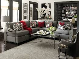 red and gray living room