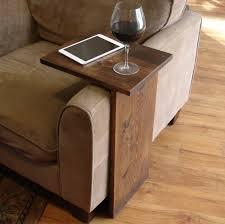 Sofa Table Design, Sofa Tray Tables Amazing Design Simple Handmade Creation  Walnut Lacquered Finish C