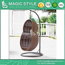 peanut shape wicker swing outdoor wicker swing chair with cushion patio hammock magic style