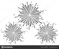 花火のベクトル イラストを白い背景に黒い色の設定 ストックベクター