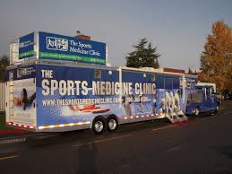 sports ine clinic trailer made with a featherlite model 4941 car hauler