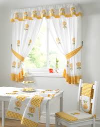 adorable design of the kitchen curtains ideas with white and yellow curtain ideas added with white