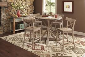 round kitchen table set. Largo Callista Rustic Casual Round Dining Table And Side Chair Set | Lindy\u0027s Furniture Company 5 Piece Sets Kitchen
