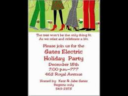 Office Christmas Party Invitation Wording Youtube