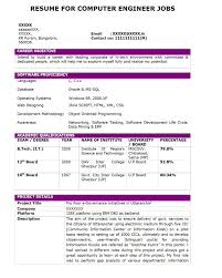 Resume For Computer Job Computer Operator Resume Therpgmovie 6