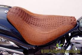 custom made exotic leather motorcycle seats alligator elephant ostrich