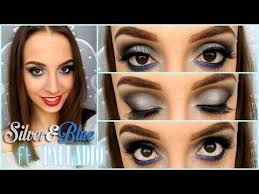 silver blue makeup tutorial ft palladio