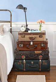 Suitcase Nightstand bedroom storage ideas 20 clever ways to organize your bedroom 1754 by guidejewelry.us