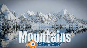 Blender Tutorial! Create <b>Snowy Mountain Landscape</b> - Blender ...