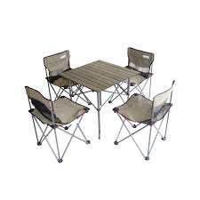 Camping Folding Table And Chairs Set Ore International Portable Childrens Camping Table And Chair Set
