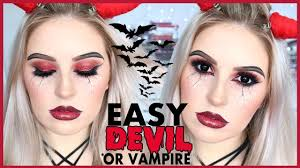 easy vire or devil makeup simple 2in1 halloween tutorial