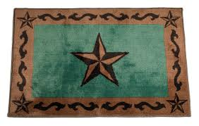 texas lone star turquoise rug 2