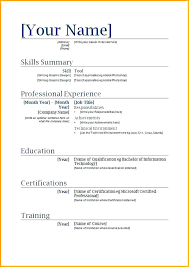 Copy And Paste Resume Templates Magnificent Copy Paste Resume Templates Sarahepps