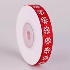 MYX 10 Yards <b>1Cm Width</b> Reel Satin Christmas Snowflake & <b>Merry</b> ...