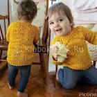 Вязание спицами кофты для девочки со схемой