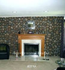 faux rock fireplace photo 5 of delightful river panels makeover old stone