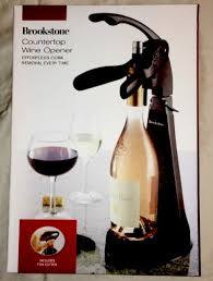 brookstone countertop wine opener in black