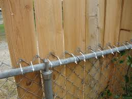 chain link fence ties. Interesting Link Create A Zip Tie Fence Cedar Planks To Chain Link Within  Measurements And Ties F