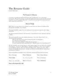 Resume: Elegant Resume Sample