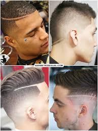 Corte de cabelo masculino com 2 risco lateral. Desenhos No Cabelo Como Fazer 68 Ideias Bar Metrosexual
