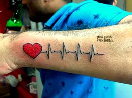 Permanent Design Heart Wid Heartbeat Permanent Design Did This Tattoo