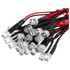 dsha 20cm 12v wired for light emitting diode wiring led lot size 5mm flat top