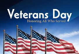 Veterans Day clipart with flag
