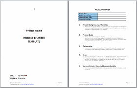 Project Charter Templates Swiftlight Software