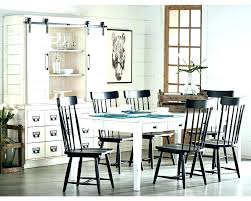 farmhouse table with metal chairs dining style chair distressed and black m