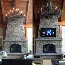 mounting tv on stone fireplace stone fireplace with how to mount on stacked stone fireplace find
