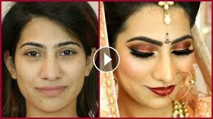 dramatic double winged smokey eyes dark red lipstick indian bridal makeup shruti arjun anand
