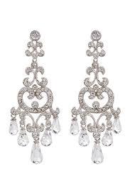 image of nadri crystal brio chandelier earrings